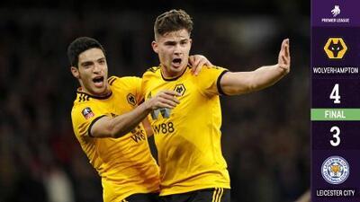 Raúl Jiménez se lució: dio el pase de gol con el que Wolverhampton derrotó a Leicester