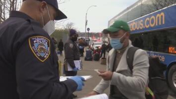 Coronavirus: Nueva York establece puntos de chequeos para los viajeros que llegan a la ciudad