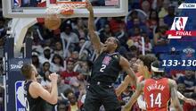 Kawhi Leonard se echa al equipo al hombro y Clippers vencen a Pelicans