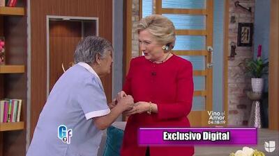 Emocionada, Martica nos contó cómo fue su experiencia dándole café a Hillary Clinton