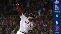Eduardo Núñez define el Juego 1 de la Serie Mundial y adelanta a Boston sobre Dodgers