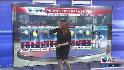 Cielos nublados y posibilidades de lluvia en Phoenix