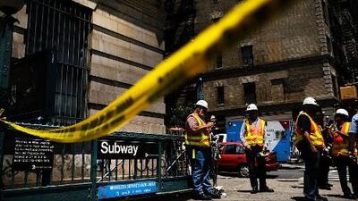 Caos en el metro de Nueva York tras el descarrilamiento de un tren en Harlem en plena hora pico