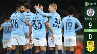 Manchester City 'bailó' al Burton y le propinó un escandaloso 9-0 en la Copa de la Liga