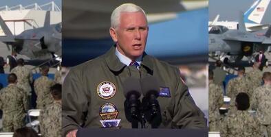"""""""Es el mayor honor de mi vida"""": Pence arribó a la base aéreo naval de Lemoore para abordar logros del gobierno"""