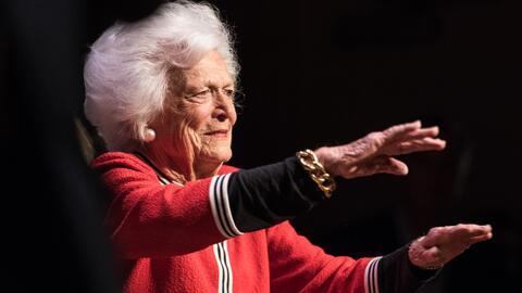 La ex primera dama Barbara Bush no se someterá a nuevos tratamientos médicos