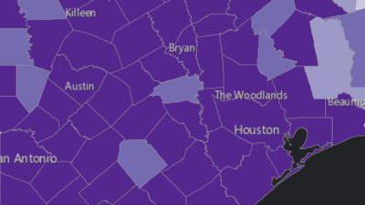 Este es el mapa de las comunidades vulnerables en el camino de Harvey
