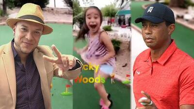 La hija de Lorenzo Méndez y Claudia Galván 'es de Tiger Woods' (y orgulloso Lorenzo lo celebra)