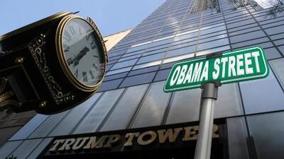 Una mentada para Trump: quieren nombrar Barack Obama la calle donde se encuentra su torre en Nueva York