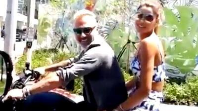 ¡Pillados! Gianluca Vacchi y Ariadna Gutiérrez son vistos por las calles de Miami