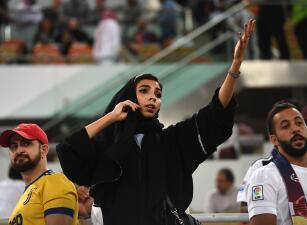 A pesar de las restricciones, las mujeres saudíes disfrutaron de la Supercopa de Italia