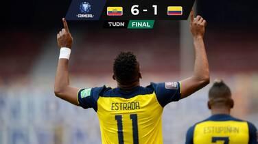 Ecuador aplastó a Colombia y suma su tercer triunfo seguido