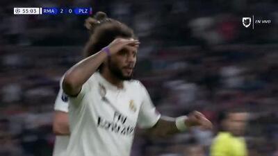 ¡GOOOL! Marcelo anota para Real Madrid
