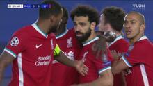 ¡Recortan los Reds! Con todo y rebote, Salah hace el 2-1 ante el Madrid
