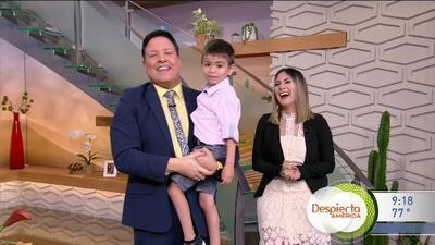 Llegó como invitado y se apoderó del show: el pequeño Martín cautiva a todos en Despierta América