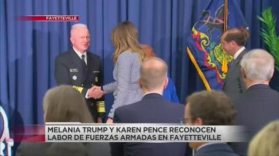 Melania Trump y Karen Pence visitarán Carolina del Norte