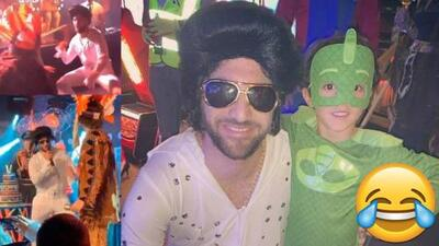 Gonzalo Higuaín se disfraza de Elvis Presley y se roba el show en el cumpleaños de David Luiz