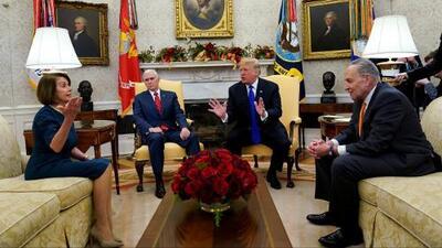 Esta fue la discusión en la Casa Blanca entre Trump y los demócratas Schumer y Pelosi