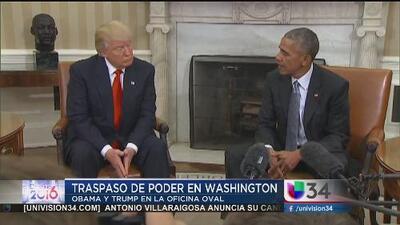 Donald Trump se reúne con Obama en la Casa Blanca