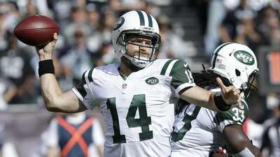Ryan Fitzpatrick es el quarterback titular de los Jets a pesar del dedo pulgar lastimado