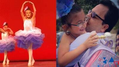 La 'Pingüinita' menor hizo llorar a su papá con la sorpresa que le tenía en su recital de ballet