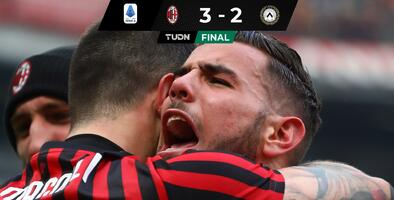 Milan consigue triunfo de último minuto ante Udinese