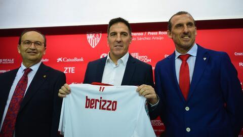 """Berizzo asumió en el Sevilla: """"Es un club con ambición, cuando surgió la opción no lo dudé"""""""