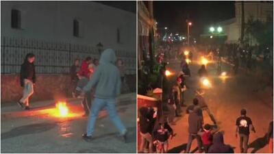 Lanzarse bolas de fuego, la peligrosa tradición para alejar el mal de este pueblo de Guatemala