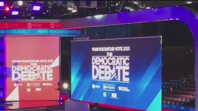 Todo listo para el debate de los 10 precandidatos demócratas a la presidencia de EEUU en Houston