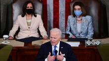 Verificamos qué es cierto y qué es engañoso en el discurso de Biden ante el Congreso a 100 días de su mandato