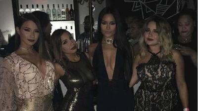 Se fueron de fiesta Gredmarie Colón, Patricia Corcino y Andrea de Castro