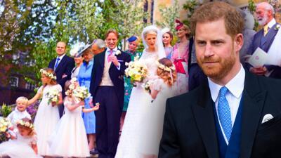 Lady Gabriella se casó con Thomas Kingston y el príncipe Harry sí llegó a la boda (pero sin Meghan ni Archie)