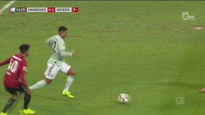 Ya es goleada: Gnabry concretó el 0-3 del Bayern ante el Hannover