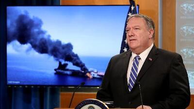 """EEUU responsabiliza a Irán por """"ataques"""" a 2 buques petroleros en la región del Golfo Pérsico"""