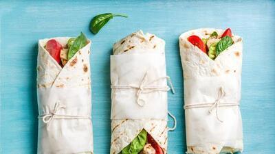 Wrap de pollo con provolone y espinacas | Reto 28