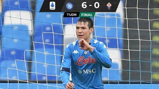 ¡Gol de Chucky! Lozano colaboró en goleada del Napoli