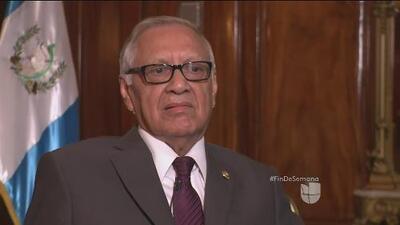 Entrevista de Univision al nuevo presidente de Guatemala