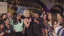 Andrés Maldonado 'El Feo' y Marisela se gozan la final desde la ciudad de Los Ángeles