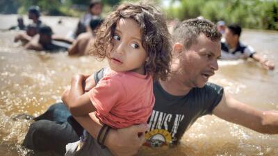 La caravana en los ojos de los niños: la dura travesía de los más pequeños hacia EEUU (fotos)