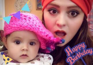 Allisson Lozz celebra su cumpleaños número 25 como una madre ejemplar