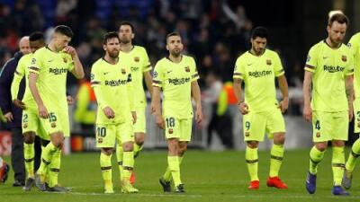 Al Barcelona no le gustó el empate y sus jugadores lo hicieron saber