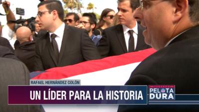 Líderes políticos y familiares dieron el último adiós a Rafael Hernández Colón