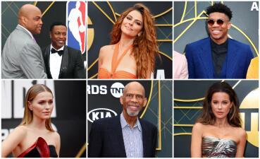 Las celebridades que pasaron por la alfombra roja en los premios de la NBA