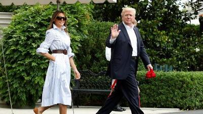 Donald Trump, Melania y Barron cambian Mar-a-Lago por la 'rústica' Camp David