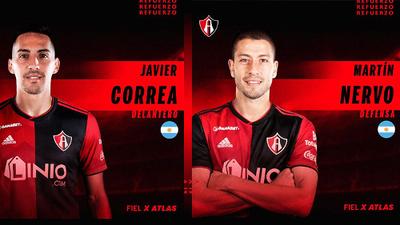 Todo queda en 'familia', Santos envía a Nervo y Correa a Atlas