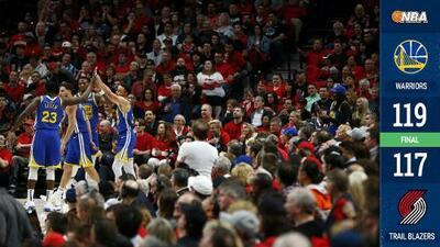 Los Warriors completan la barrida sobre los Blazers y van a sus quintas Finales al hilo
