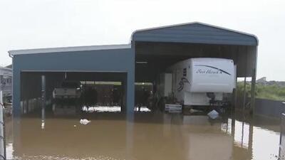 El condado de Matagorda es uno de los más afectados tras el paso de la depresión tropical Imelda