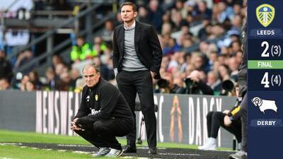 Leeds de Bielsa se colapsó ante el Derby de Lampard y no estará en la Premier League