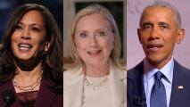 Kamala Harris, Hillary Clinton y Barack Obama, los protagonistas de la tercera jornada de la Convención Demócrata