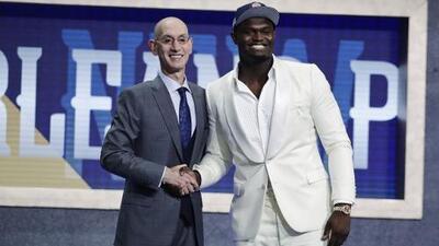 Zion Williamson es la primera selección global del Draft de la NBA y va con New Orleans
